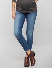 DL1961 Under Belly Jess Skinny Ankle Maternity Jeans, Med Wash