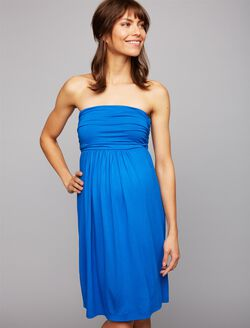 Isabella Oliver Delphine Strapless Maternity Dress, Dutch Blue