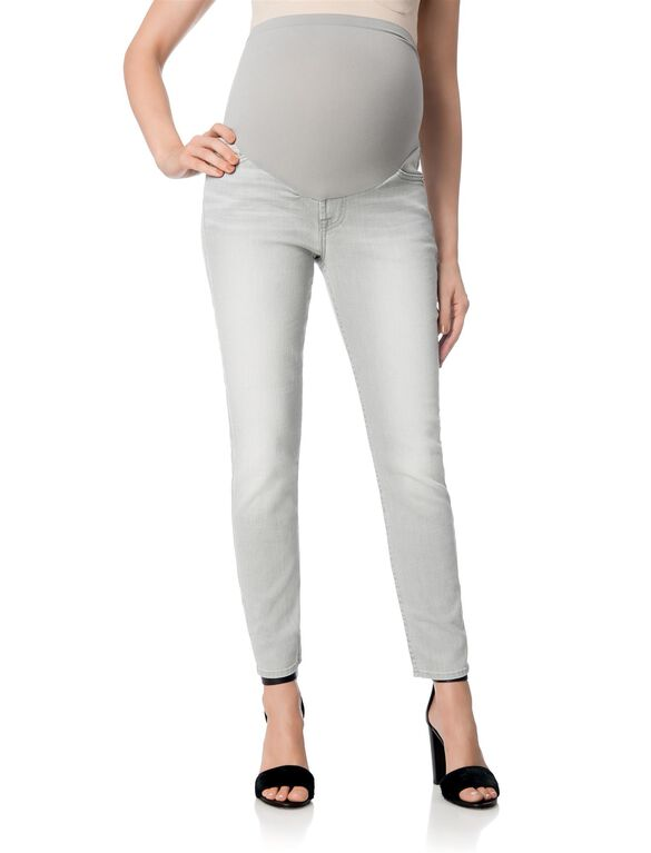 7 For All Mankind Secret Fit Belly Maternity Jeans, Light Grey