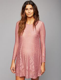 BCBGMAXAZRIA Lace Maternity Dress, Pink