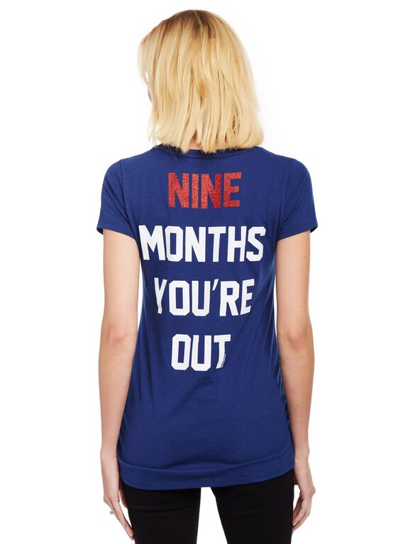 Atlanta Braves MLB You're Out Maternity Tee, Braves Navy