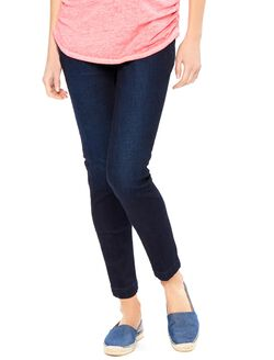 Secret Fit Belly Skinny Ankle Denim Maternity Pants, Rinse Wash