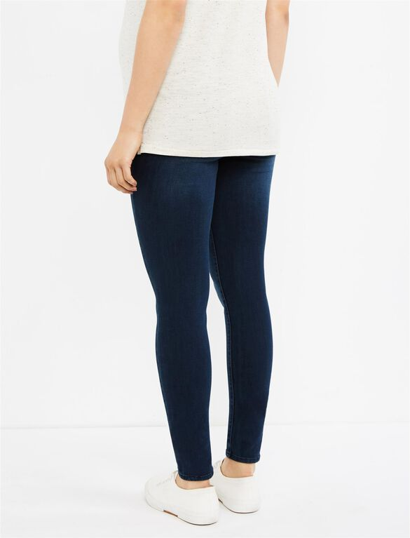 Luxe Essentials Denim Secret Fit Belly Legging Maternity Jeans- Dark Wash, Dark Wash
