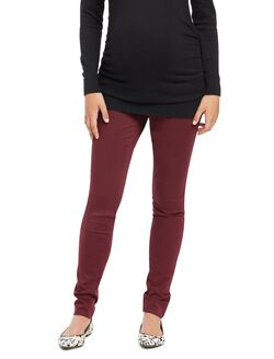 Secret Fit Belly Sateen Skinny Maternity Pants, Pinot Noir