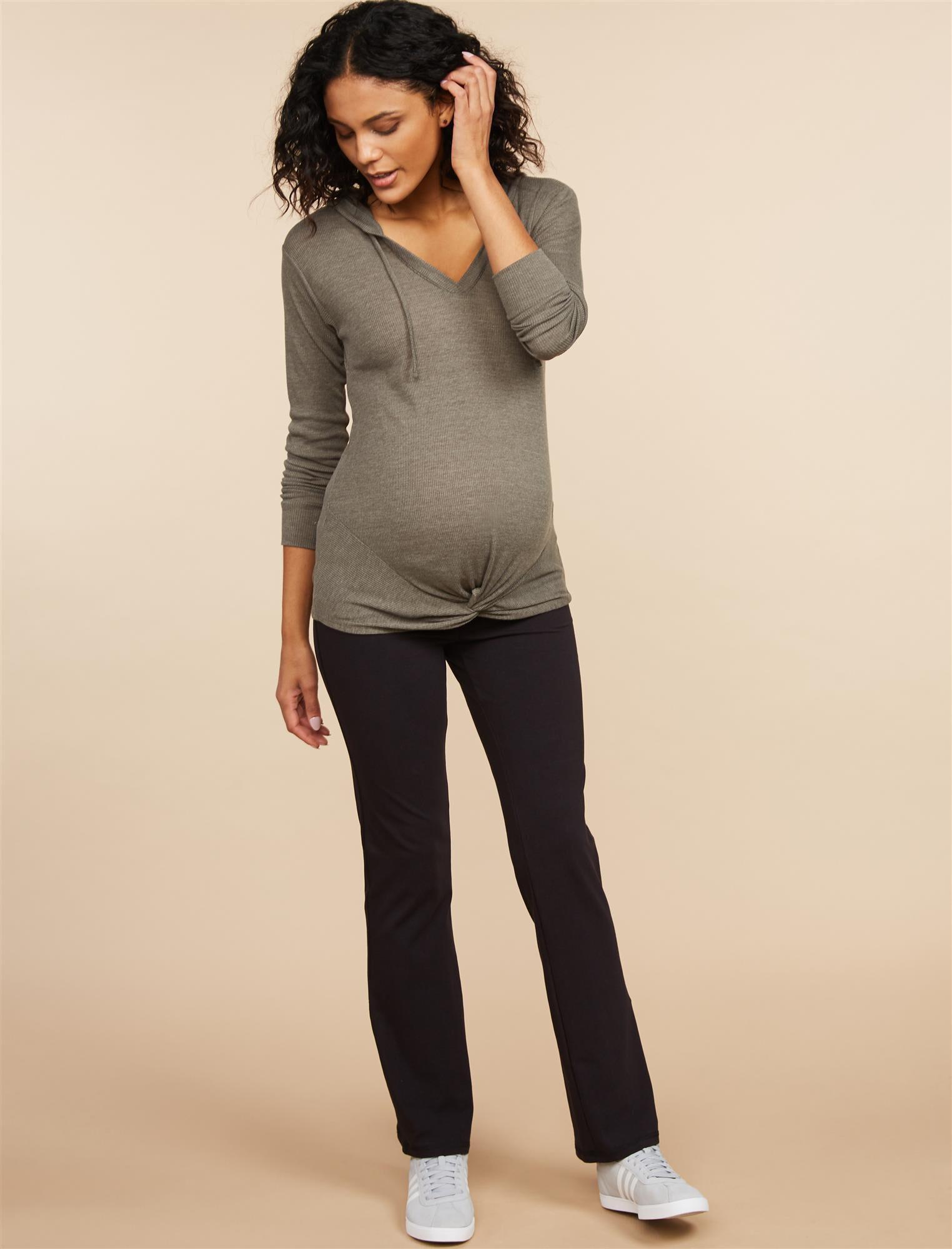 Foldover Belly Boot Cut Maternity Yoga Pants