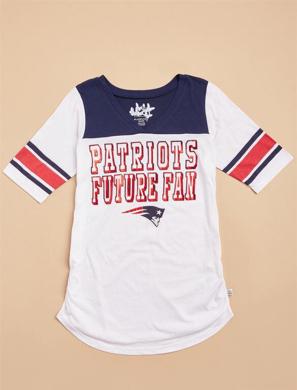 New England Patriots NFL Elbow Sleeve Maternity Tee, Patriots