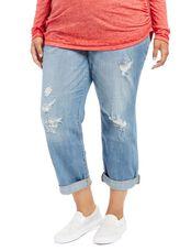 Motherhood Plus Size Boyfriend/girlfriend Maternity Jeans, Dark Wash