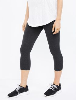 Luxe Essentials Secret Fit Belly Crop Maternity Leggings, Grey