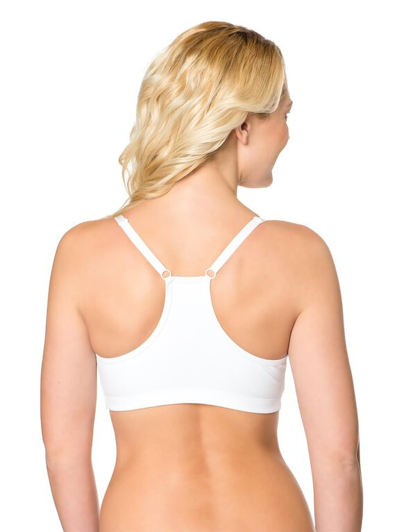 Sports Clip Down Nursing Bra, White