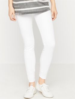7 For All Mankind Secret Fit Belly B(air) Skinny Maternity Jeans, Clean White