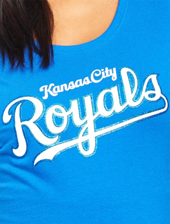 Kansas City Royals MLB You're Out Maternity Tee, Royals Blue