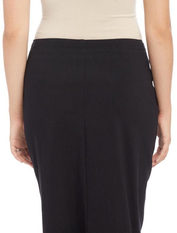 Secret Fit Belly Pencil Fit Maternity Skirt- Black, Black