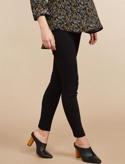 Secret Fit Belly Skinny Ankle Maternity Pants, Black