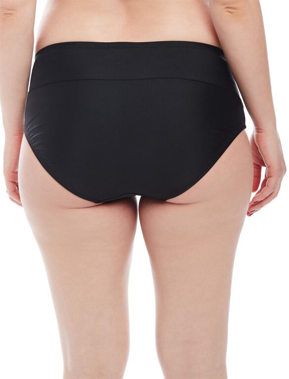 High Rise Maternity Swim Bikini Bottom, Black