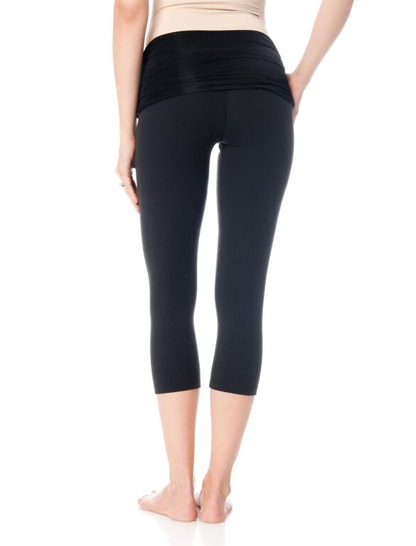Beyond The Bump What's Kicking Foldover Maternity Leggings, Black