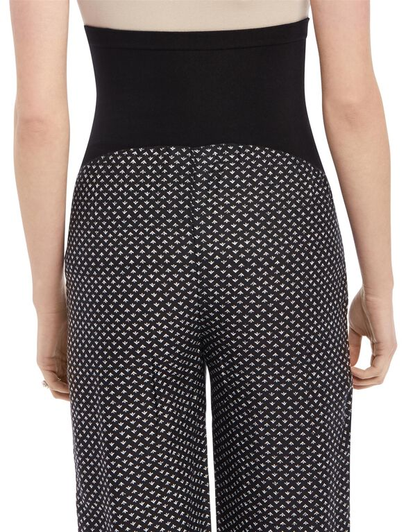 Secret Fit Belly Printed Maternity Pallazo Pants, B/W Arrow Border Prn