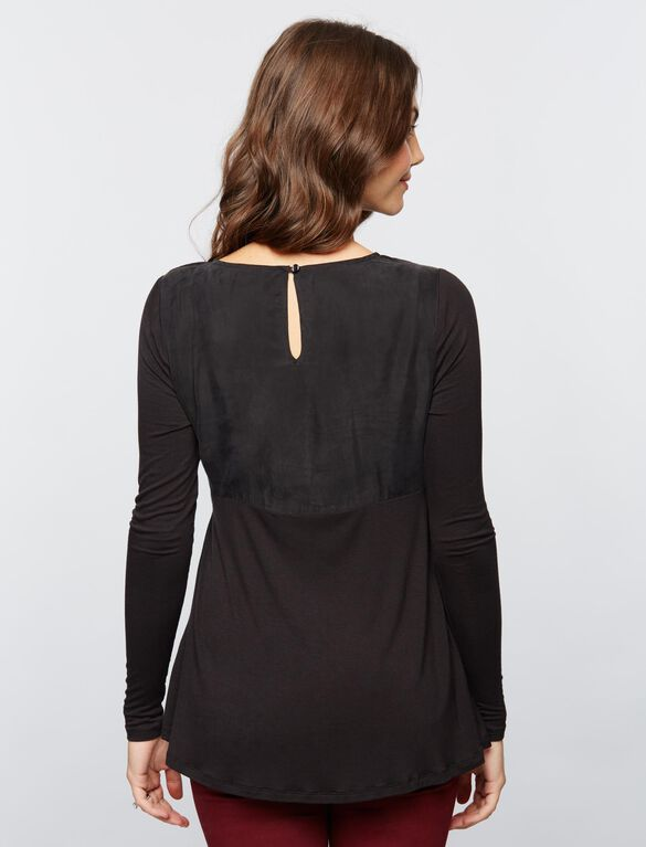 Knot Front Maternity Top, Core Black