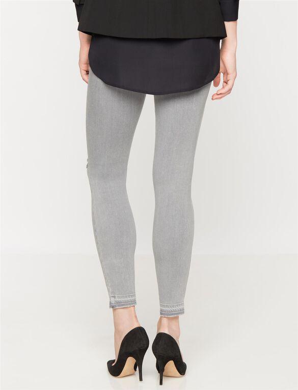 Paige Denim Secret Fit Belly Destructed Skinny Maternity Ankle Jeans, Dove Grey