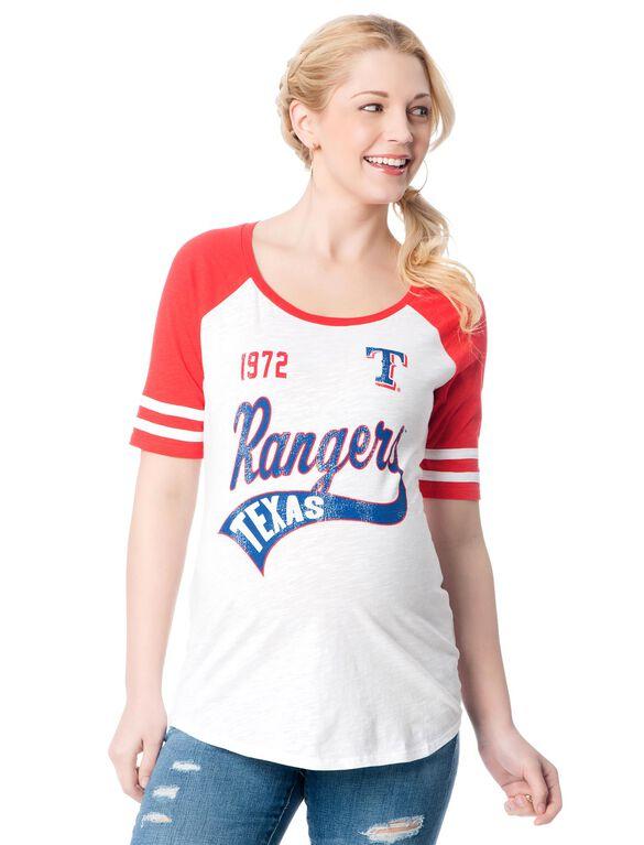 Texas Rangers MLB Raglan Sleeve Maternity Tee, Rangers