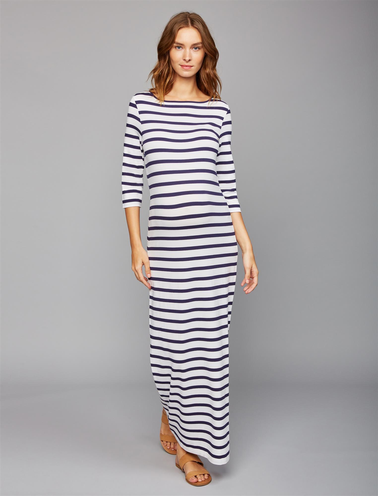 Pietro Brunelli Striped Maternity Maxi Dress