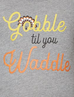 Gobble Til You Waddle Maternity Tee, Gray