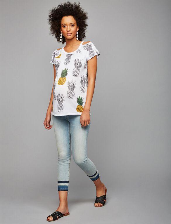 Jbrand Secret Fit Belly Skinny Leg Maternity Jeans, Light Wash