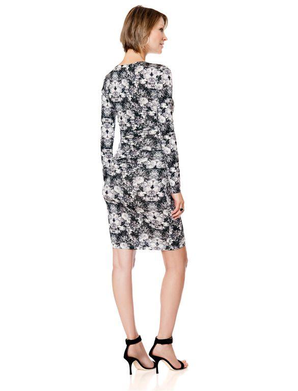 Maternity Dress, Black/White