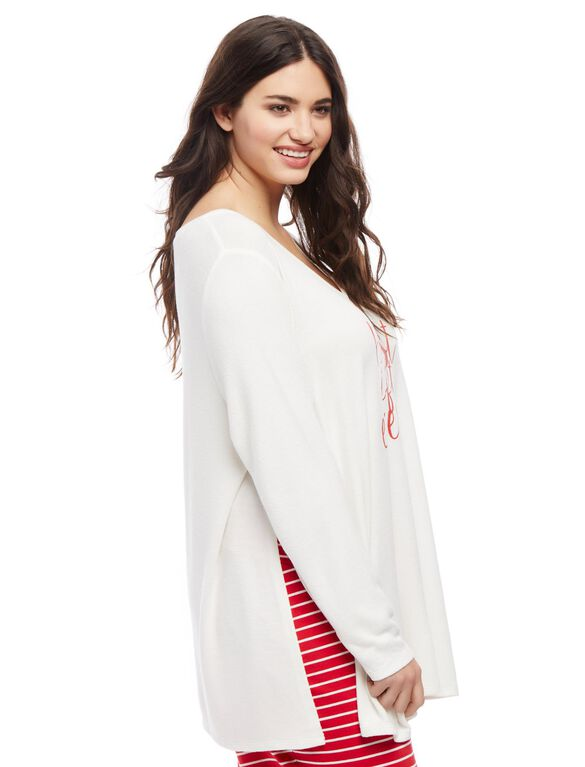 Plus Size Best Gift Ever Sleep Shirt, White