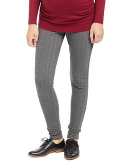Secret Fit Belly Herringbone Maternity Pants, Grey