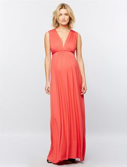 Rachel Pally Shirring Detail Maternity Dress, Foxy Pink