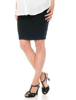 Secret Fit Belly Pencil Fit Short Ponte Maternity Skirt, Black