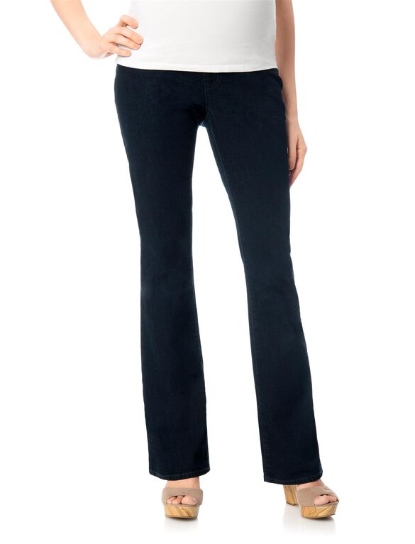 Indigo Blue Petite Secret Fit Belly Boot Cut Maternity Jeans, Rinse Wash