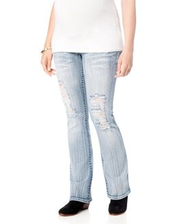 Wallflower Secret Fit Belly Boot Cut Maternity Jeans, Margot Medium Wash