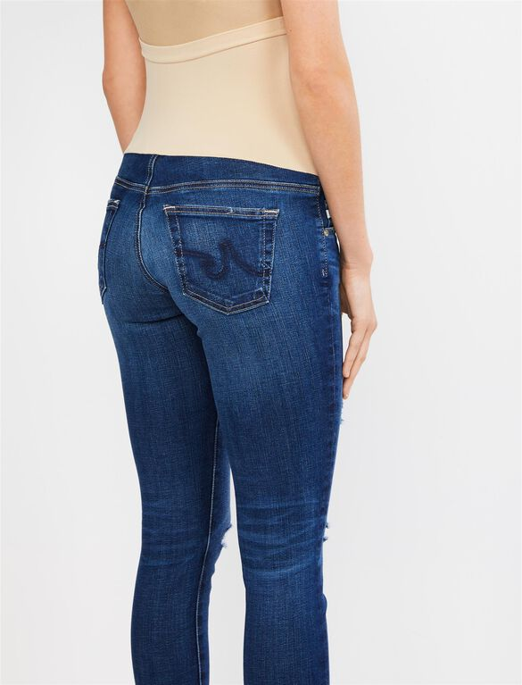 AG Jeans Secret Fit Belly Destructed Legging Ankle Maternity Jeans, 11 Yr Swapmeet