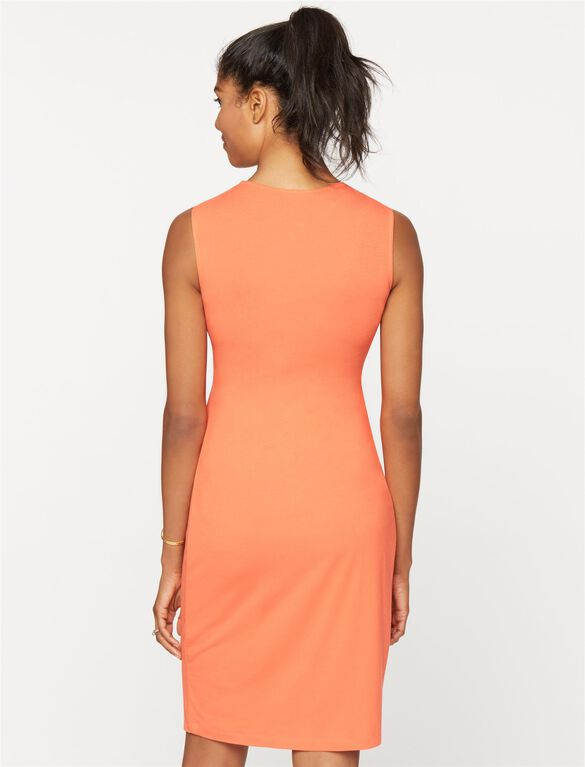 Isabella Oliver Coraline Maternity Dress, Rich Apricot