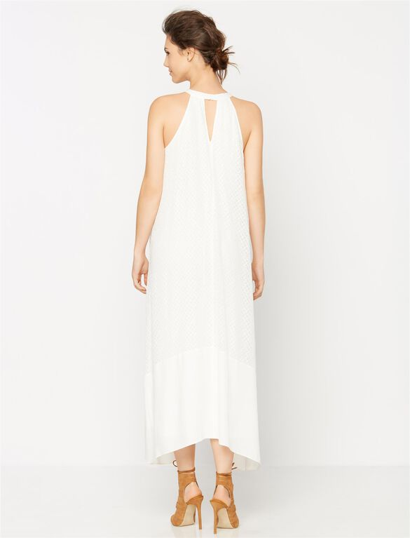 Ella Moss Bias Cut Maternity Maxi Dress, Natural