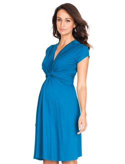 Seraphine Jolene Short Sleeve Maternity Dress- Seaside Blue, Seaside..
