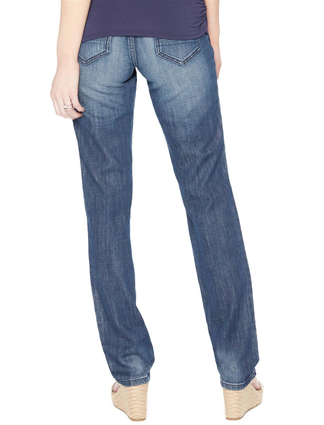 ... Secret Fit Belly Rip and Repair Flare Maternity Jeans, Night Breeze  Dark ... - Secret Fit Belly Rip And Repair Flare Maternity Jeans Motherhood