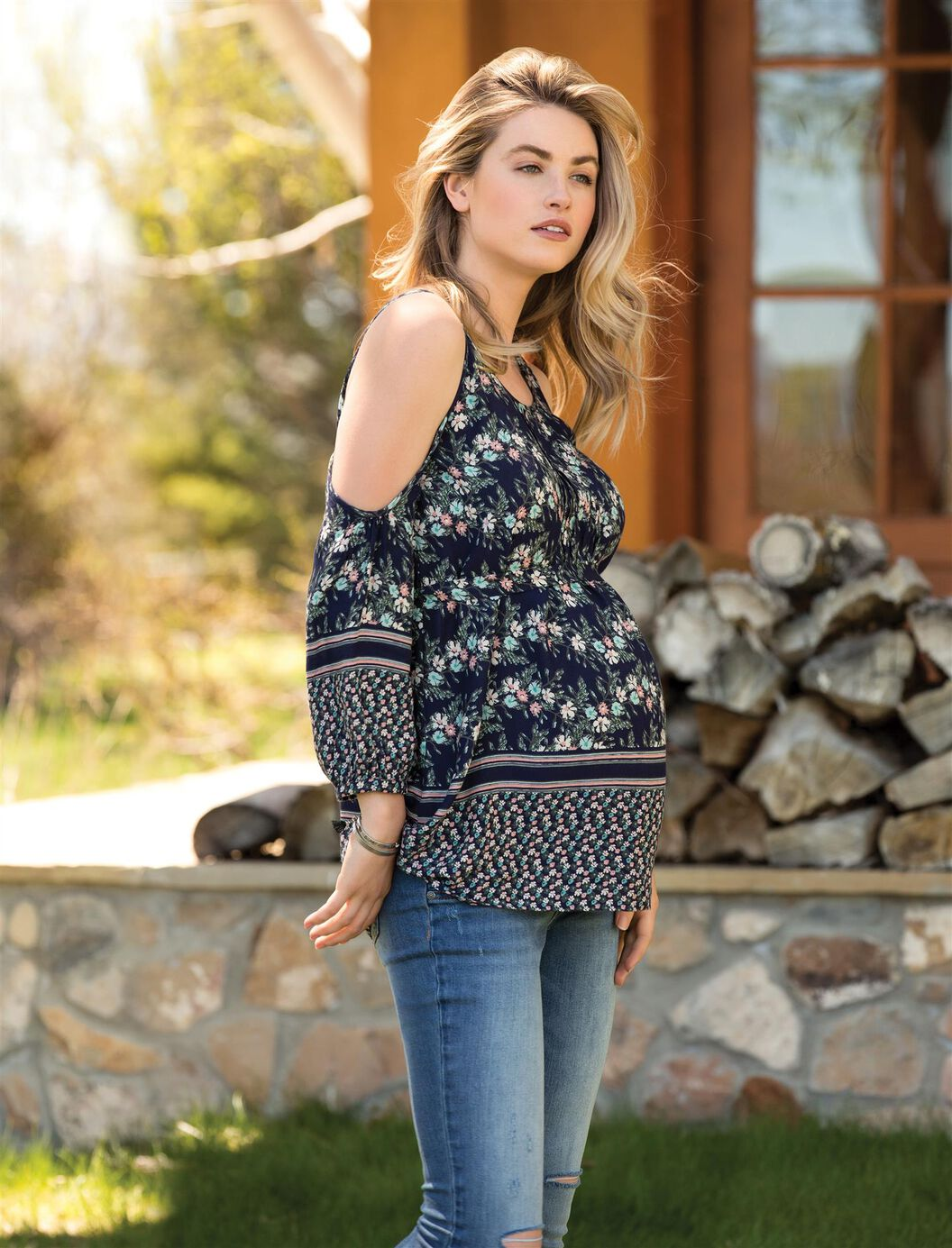 Pleated Maternity Top at Motherhood Maternity in Victor, NY | Tuggl