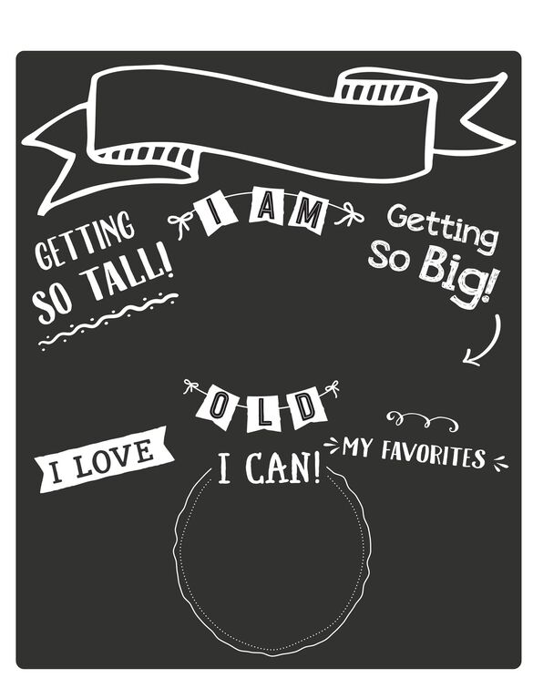 Pearhead Baby's Monthly Chalkboard, All About Baby