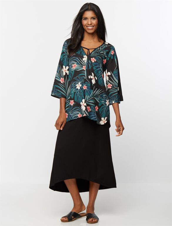 Rachel Zoe Soft Floral Maternity Shirt, Jungle Print
