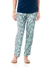 Splendid Pull On Style Rayon Maternity Crop Pants, Sea Green