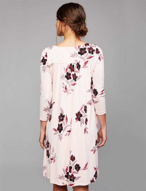 A-line Maternity Dress, Pink
