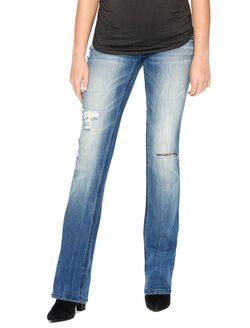 Wallflower Secret Fit Belly Faded Maternity Jeans, Medium Wash