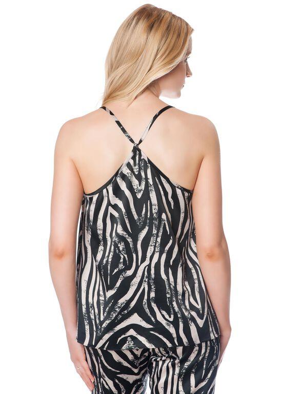 Trapeze Nursing Sleep Top, Zebra Print