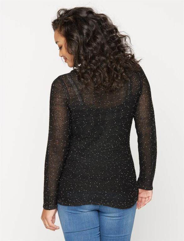 Design History Beaded Detail Maternity Sweater, Black