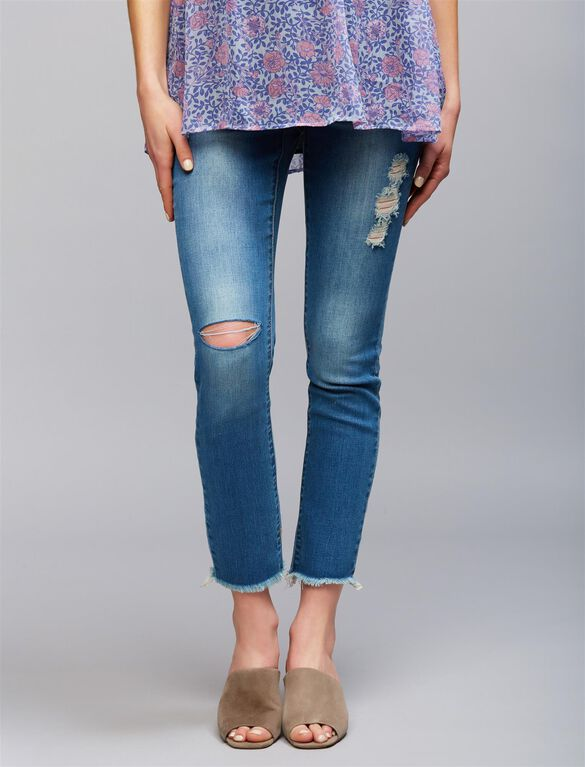 Articles Of Society Secret Fit Belly Skinny Leg Maternity Jeans, Derby Medium Wash