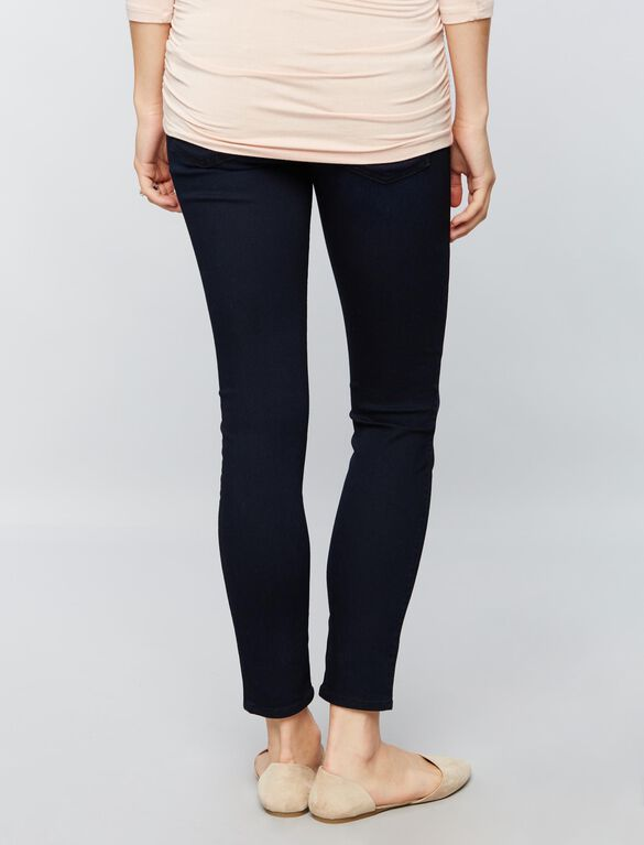 7 For All Mankind Secret Fit Belly B(air) Ankle Skinny Maternity Jeans, Blue Black Thames