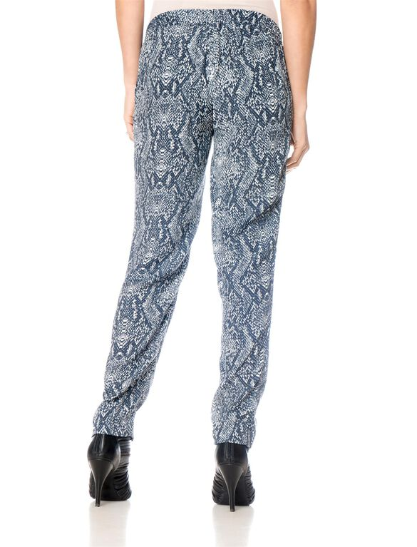 No Belly Slim Leg Maternity Pants, Multi Print