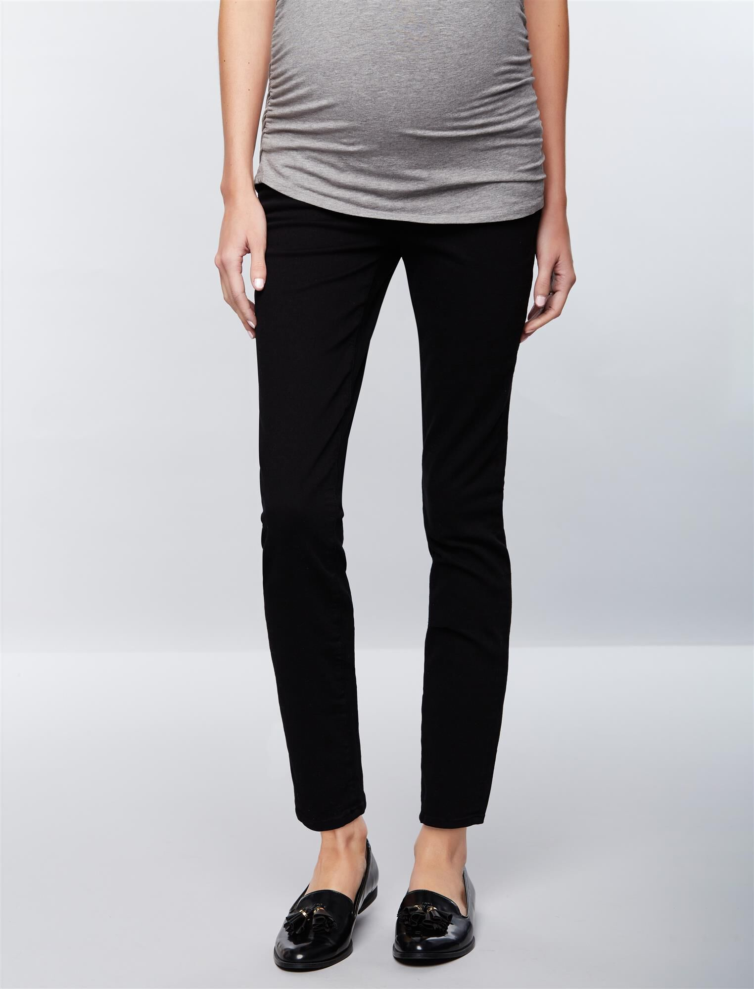 FRAME Secret Fit Belly Le Skinny de Jeanne Maternity Jeans- Film Noir